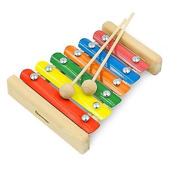 Alatoys Wooden  Metallophone Xylophone 6 bars