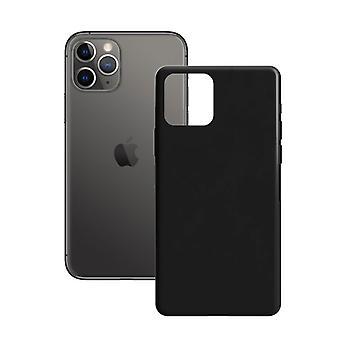 غطاء المحمول فون 11 برو الاتصال الحرير TPU الأسود