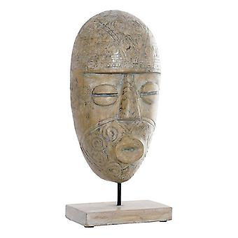 Dekorativ figur Dekodonia Metal Bambus Mask (20 x 10 x 44 cm)