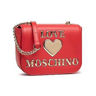 Женская сумка Любовь Moschino Плечо / Плечевой ремень Ecopelle Красный / Золото Bs21mo29 Jc4052