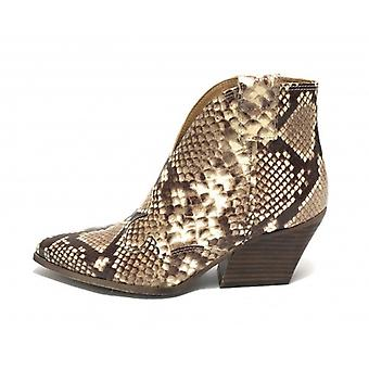 Shoes Woman Ad. Side Texan Leather Ankle Boot Python Print Sasso Ds19ad03