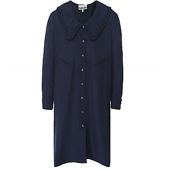 Ganni Ripstop Oversized Shirt Dress