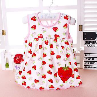 Letní dětská móda Infantilní bavlněné šaty