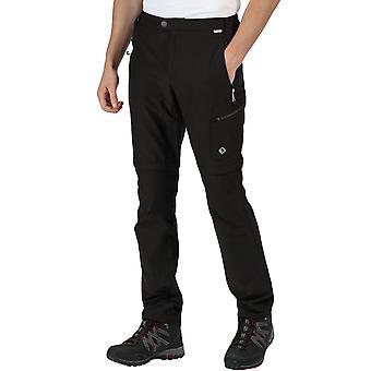Regatta Mens Highton Rip Off Zip Off Legs Walking Hiking Trousers Pants - Black