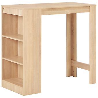 Bar Table With Shelf Oak 110x50x103 Cm