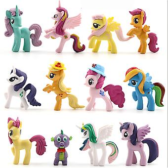 12szt Little Horse Kucyk Figurka Toy For Girls Kolekcja Prezent