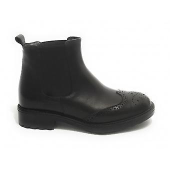 Women's Elite Ankle Boots Beatles Black Calfskin D21el04
