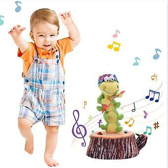 Dancing And Singing caterpillar Enchanting Sunflower Soft Stuffed Plush Toys Funny Electric Toys For Kids Party Toys