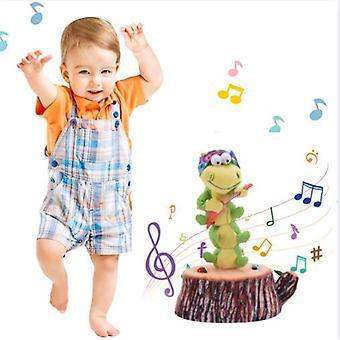 Dans og sang larve Fortryllende solsikke Soft Udstoppet plys Legetøj Funny Electric Legetøj til Kids Party Legetøj
