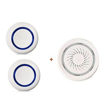 Wifi Sos Wireless, nödknappslarm för inbrottstjuv, larmsensor