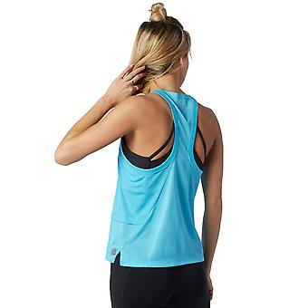 New Balance Womens 2021 Printed Impact Hybrid Breathable Running Tank Top Vest