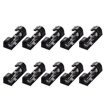 20PCS Auto-Adhésive Wire Clips Câble Holder Noir