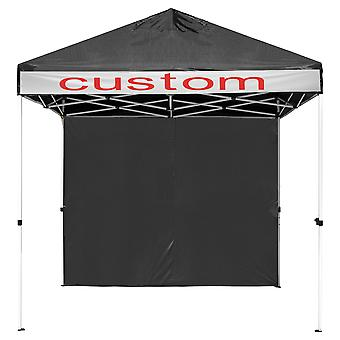 InstaHabit 10x10ft Pop Up Canopy with 1 Sidewall Panel Kit Flea Market Yard Home