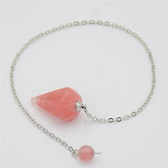 Men, Women Reiki Pendulum Natural Stone Amulet Healing Crystal Pendant, Small