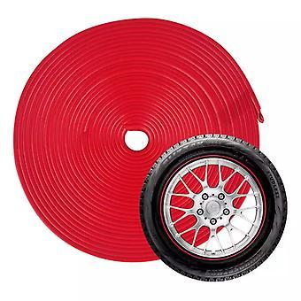 Protezione del cerchio in gomma, 8 m - Rosso