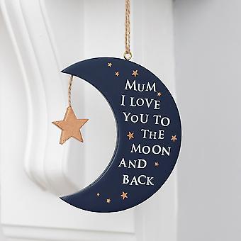 Etwas anderes Mama ich liebe dich Mond Plaque
