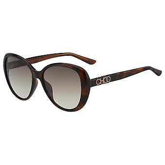 Jimmy Choo Amira/G/S 086/HA Dark Havana/Brown Gradient Sunglasses