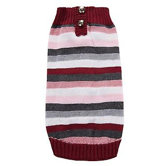 Dog cat clothes autumn and winter classic striped sweater multi-color optional