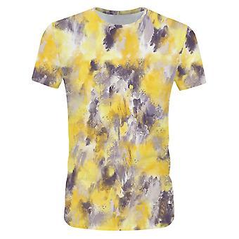 全人の男性の抽象油絵グラディエントグラフィティTシャツ