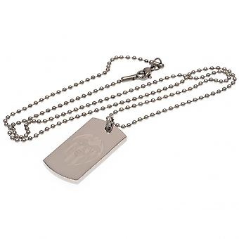 Valencia FC Engraved Dog Tag And Chain
