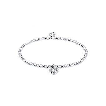Elli Women's Heart-Shaped Pendant Bracelet with Sterling Silver Swarovski Crystals 925(1)
