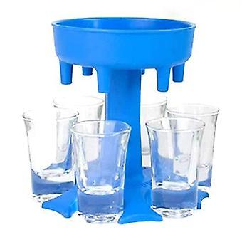 6 Shot Glass Dispenser Holder Vin Whisky Öl Dispenser Rack Bar Tillbehör Caddy Sprit Dispenser Party Spel Dricksverktyg