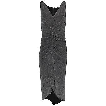 Frank Lyman Sleeveless Shimmer Ruched Front Dress