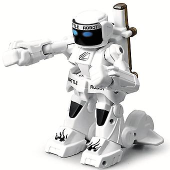 2.4G Body Sense Battle Combat Toys For Kids Gift Toy With Box Light And Sound Boxer|RC Robot(White)