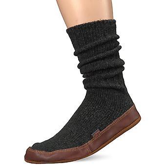 Zapatilla de calcetín Acorn Unisex, lana ragg de carbón, X-Small (6.5-7.5 de las mujeres) B LOS E.E.U.U.