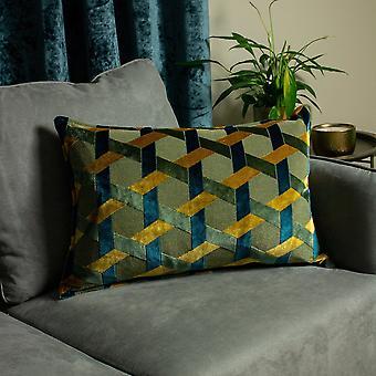 Riva Paoletti Delano Jacquard Velvet Cushion Cover