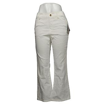 IMAN Global Chic Mujeres's Petite Jeans Pull-On Bootcut White 734928100
