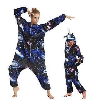 Regenboghorn Blue Universe Pegasus Costume Unicorn Pajama Onesie Kigurumi Jumpsuit
