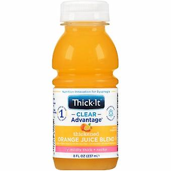 Kent Precision Foods Thickened Beverage Thick-It Clear Advantage 8 oz. Container Bottle Orange Flavor Ready to Use Nect, 1 Each