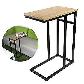 Tresofa / side / ende / bærbar bord med blank topp og kromramme