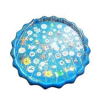 Gyermekek nyári szabadtéri víz játszópad szőnyeg gyep felfújható sprinkler párna játék