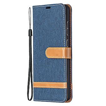 Folio Flip Cover Leather Case For Samsung Galaxy A72 5g/4g Navy Jeans
