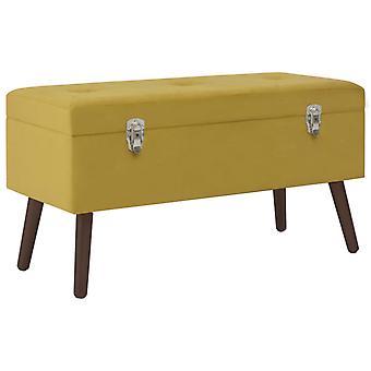 vidaXL bench with storage compartment mustard yellow 80 cm velvet