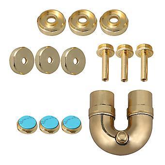 2 # Golden Elbow Sound Tube &Bielles Remplacement Trumpet Pièces