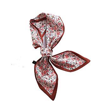 2PCS Nuovo design Sciarpa magra stampa a righe solide Donne Sciarpa di seta Piccola Maniglia Borsa Nastri Femmina