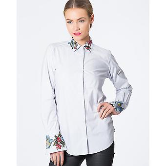 Bell Sleeve Embroidered Shirt