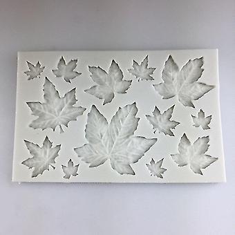 High quality the maple leaf shape drop glue mold 2pcs kitchenware #548