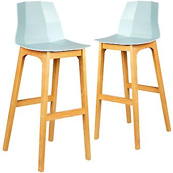 Set of 2 hayley low back bar chair