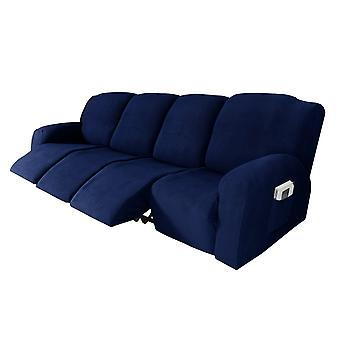 Recliner sofa slipcover couch covers for 4 cushion couch, sofa cover furniture protector with elasticity, navy