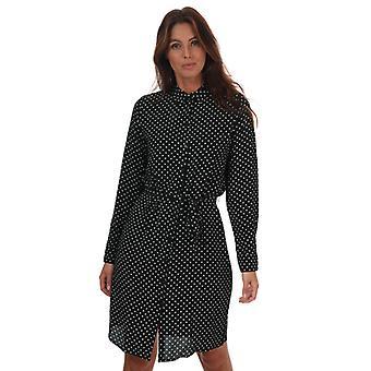 Women's Vero Moda Saga Polka Dot Shirt Dress in Black