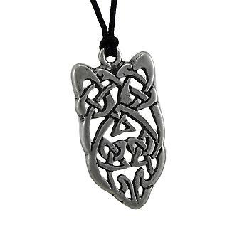 Colgante piedra celta estaño lazos para atraer elocuencia en el discurso de elocuencia