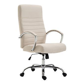 Silla de oficina - Silla de escritorio - Oficina en casa - Moderna - Beige - Metal - 60 cm x 68 cm x 110 cm