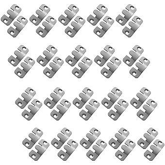 Kleine Metall Schnittmöbel Steckverbinder Sofa Wand Halterung Aufhänger Spiegel Rahmen Haken Panel Aufhänger Silber 20 Paare (40 Stück)