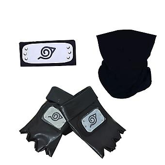Anime Naruto Stirnband Set Kakashi Maske Performance Requisiten Halloween Kostüm