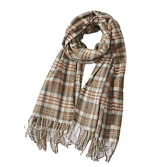 Warm Winter Tartan Plaid Soft Scarf Classic Cashmere Châle