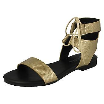 Ladies Savannah åpen tå Aztec stil sandaler F0955